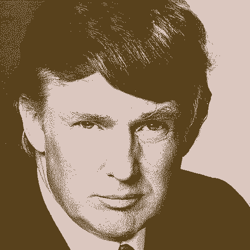 2-color-photo of Donald Trump