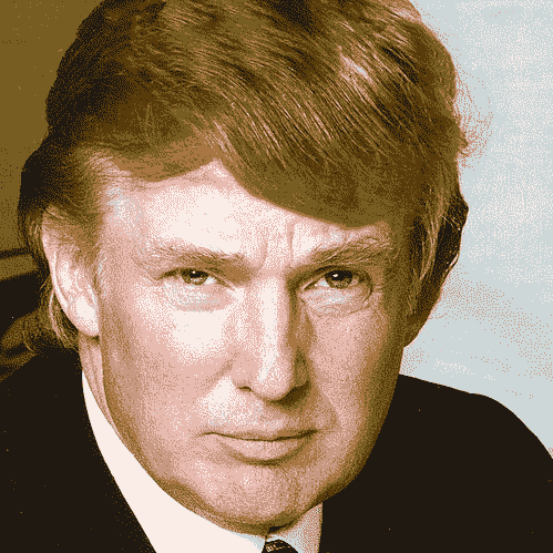 8-color-photo of Donald Trump