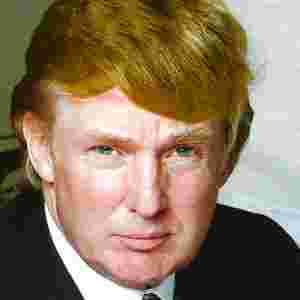 Photo of Donald Trump, heavily compressed