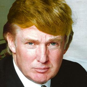 Photo of Donald Trump with a graphic filter